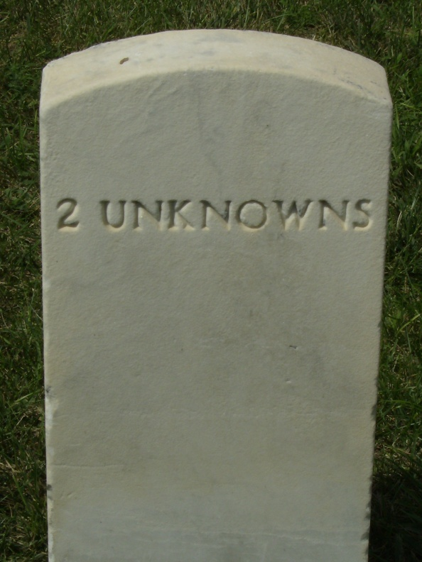 A headstone in Staunton National Cemetery - are there unknowns yet to be discovered at the Wal-Mart site in the Wilderness?