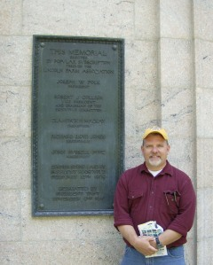 Yours Truly at the Lincoln Birthplace Monument in May 2009