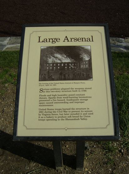 Marker for the site of the large arsenal, April 17, 2011