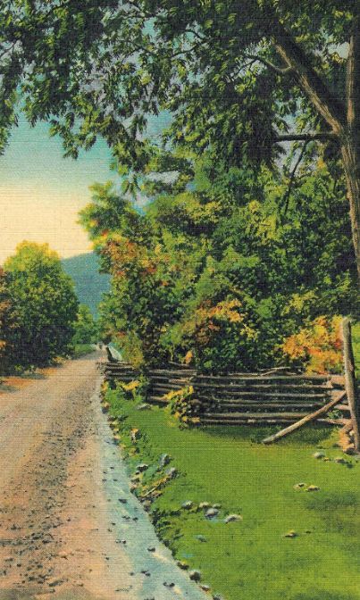An old postcard showing the pike
