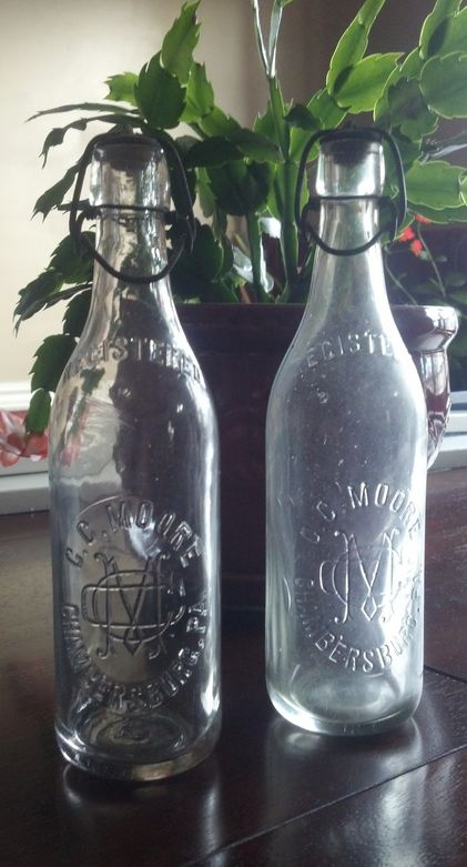 My first two C.C. Moore bottles, in what 's become a growing collection.