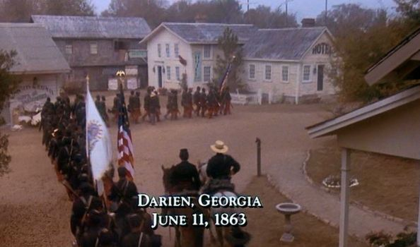 The 2nd South Carolina and 54th Massachusetts enter Darien, Ga. From the movie, Glory