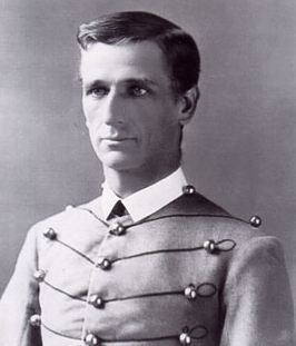 "West Point image of Charles B. Gatewood, known by his classmates as ""Scipio Africanus"", for his resemblence to the Roman general/statesman. Geronimo knew him as ""Nanton Bse-che"", meaning ""Big Nose Captain""."